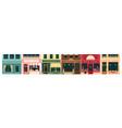 city building vintage facade vector image vector image