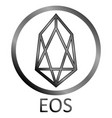 crypto coin eos icon on white vector image