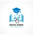 digital school cursor logo vector image