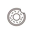 donut isolated linear style icon vector image vector image