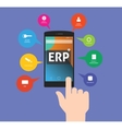 erp - enterprise resource planning vector image vector image