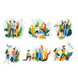 family isolated icons parents and children vector image vector image