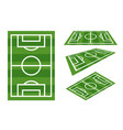 field football sport play grass soccer game vector image