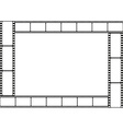 Film strip template border vector image vector image