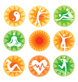 Fitness spa decorative icons vector image vector image