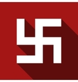 Flat Swastika icon with long shadow vector image vector image