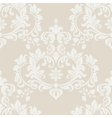 Floral damask pattern background vector image vector image