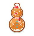 gingerbread cookies snowman of merry vector image