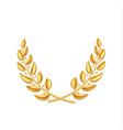 golden laurel wreath winner shiny sign vector image