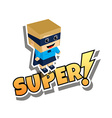 great superhero mom vector image vector image