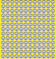grey abstract circular mosaic on yellow background vector image vector image