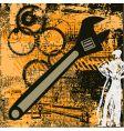 grunge engineering vector image vector image
