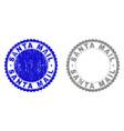 grunge santa mail textured stamp seals vector image vector image