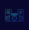 guitar amplifier and audio speakers linear icon vector image vector image