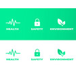 hse pictograms concept health safety environment vector image vector image