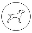 Hunter dog or gundog icon black color simple image