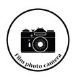 Icon of retro film photo camera vector image vector image