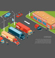 isometric delivery vector image vector image