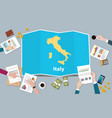 italy economy country growth nation team discuss vector image vector image