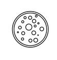 laboratory petri dish icon vector image vector image