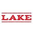 Lake Watermark Stamp vector image vector image
