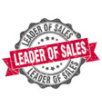 leader of sales stamp sign seal vector image vector image