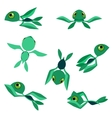 Little baby sea turtles characters vector image vector image