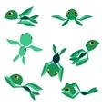 little basea turtles characters vector image vector image