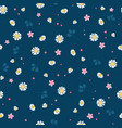 lovely daisies ditsy seamless pattern design vector image