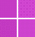 Magenta seamless pattern background set vector image vector image