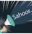 megaphone speaker alert for sahoor or sahur sketch vector image