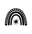 modern black rainbow shape barainbow logo vector image vector image