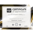 Modern certificate abstract frame template vector image vector image