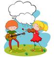 Musicians vector image vector image