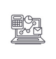 online control system line icon concept online vector image