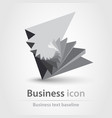 originally created business icon in 3d like style vector image vector image