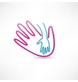 parental hand icon vector image vector image