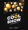 party and show poster template concert vector image vector image