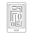 phone innards icon outline style vector image vector image