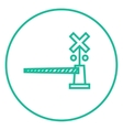 Railway barrier line icon vector image vector image