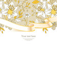 ribbon florals vector image