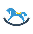 rocking horse icon vector image vector image