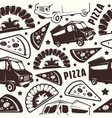 seamless pattern for pizza delivery vector image vector image
