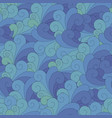 seamless unusual pattern with waves vector image vector image