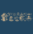 set design elements for nautical theme vector image vector image