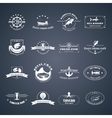Set of seafood logos vector image vector image