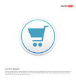 shopping cart icon hexa white background icon vector image