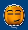 Smug vector image vector image