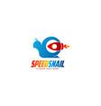 snail logo template animal logo concept vector image vector image