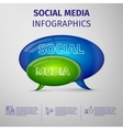 Social media infographics vector image